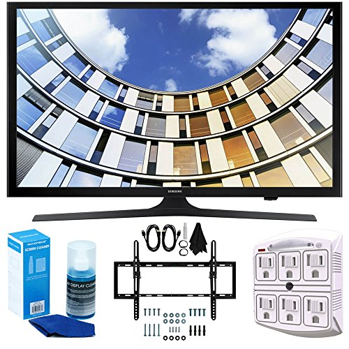 Click to buy Samsung UN50M5300 Flat 50-Inch 1080p LED SmartTV (2017 Model) + Flat & Tilt Wall Mount Kit Ultimate Bundle for 32-60 inch TVs + SurgePro 6-Outlet Surge Adapter w/ Night Light + LED TV Screen Cleaner - From only $569