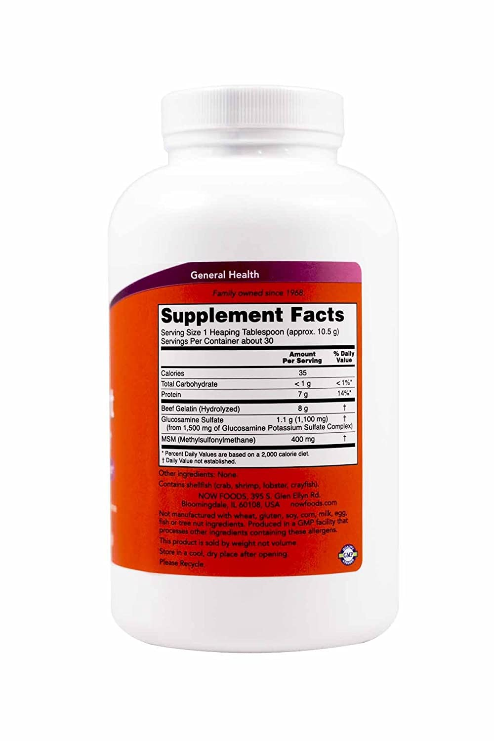 NOW Joint Support Powder 11 Ounce Image 2