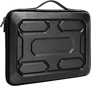 """DOMISO 14 inch Laptop Sleeve with Handle Shockproof Waterproof EVA Protective Case for 14"""" Lenovo ThinkPad E480/Yoga 920/13.5"""" Microsoft Surface Book/HP Pavilion 14 Stream 14/14"""" Notebook, Black"""