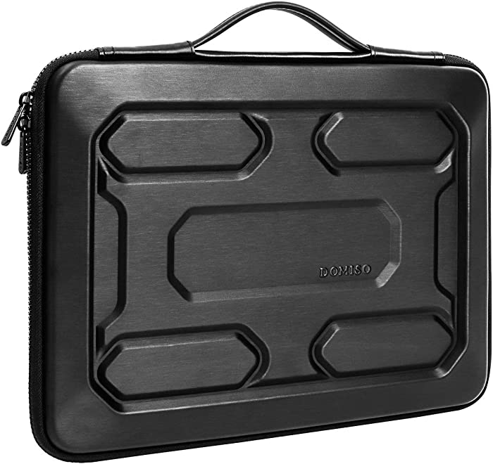 """DOMISO 17 inch Laptop Sleeve with Handle Shockproof Waterproof EVA Protective Case for 17.3"""" Dell Inspiron/MSI GS73VR Stealth Pro/Lenovo IdeaPad 320 321/HP Envy 17/LG Gram 17""""/ASUS ROG Strix GL702VS"""
