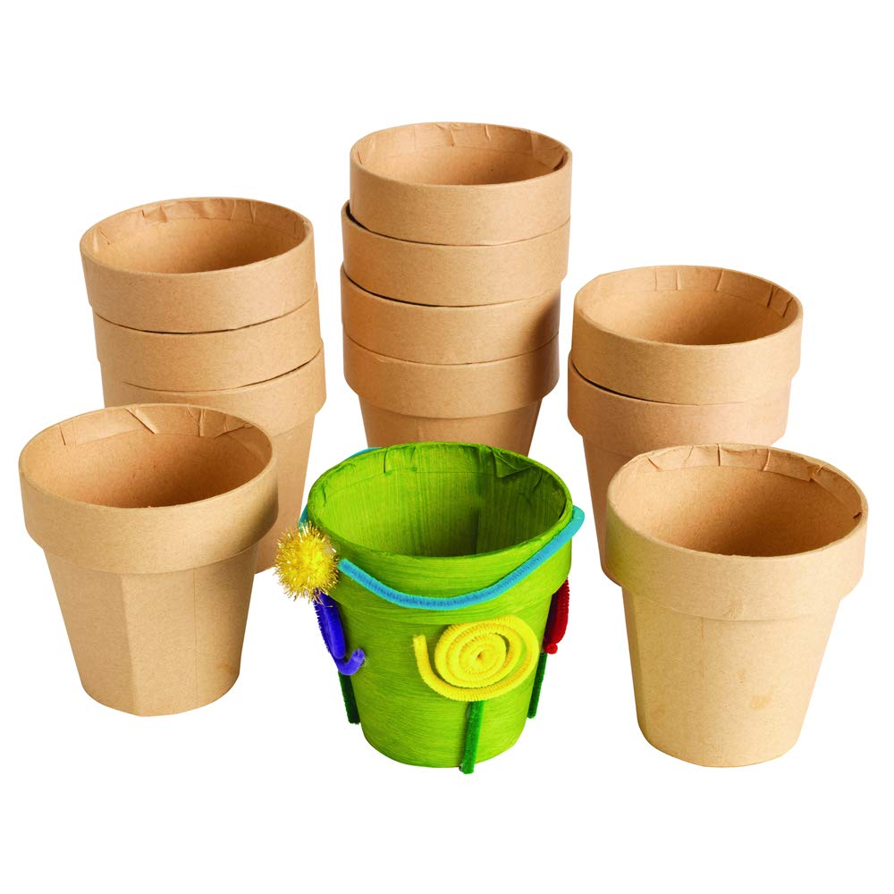 Item # MACHEPOT Colorations Decorate Your Own Paper Mache Flowerpots Set of 12