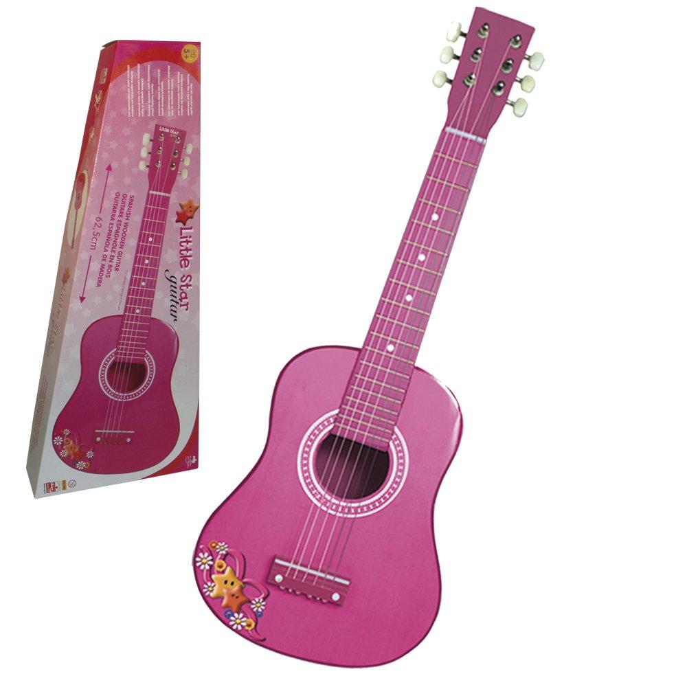 Reig 62.5cm 62.5cm Spanish (Pink) Wooden Guitar Wooden (Pink) B005OQB2R0, やまがたけん:6d7ea05a --- sharoshka.org