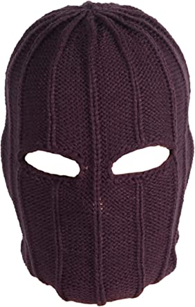 Wasoie Baron Zemo Mask Cosplay Headwear The Winter Soldier Masks Bucky Barnes Halloween Full Mask for Adults Brown