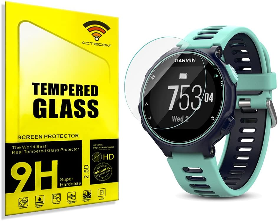 actecom® Protector Pantalla para Garmin Forerunner 735XT Cristal Vidrio Templado