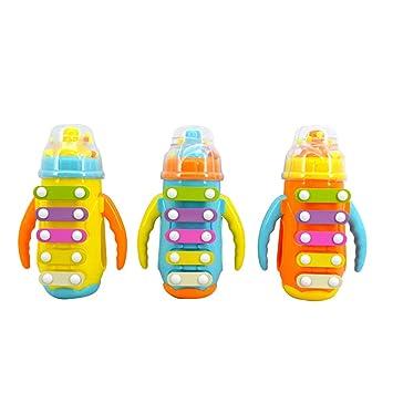 YeahiBaby Botella para Bebe con Xilófono Juguete Instrumento Musical Juguetes para Color al Azar