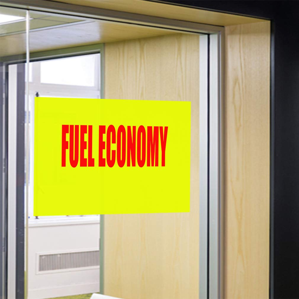 Decal Sticker Multiple Sizes Belts /& Hoses Business Automotive Fuel Consume Outdoor Store Sign Yellow 14inx10in Set of 10