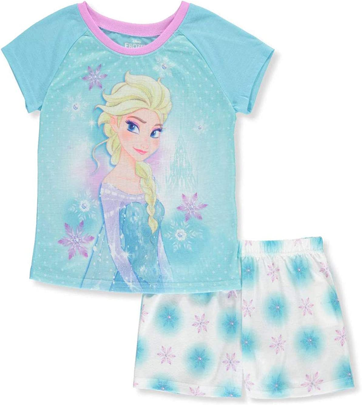 4//5 Disney Frozen Girls 2 Piece Pajama Short Set