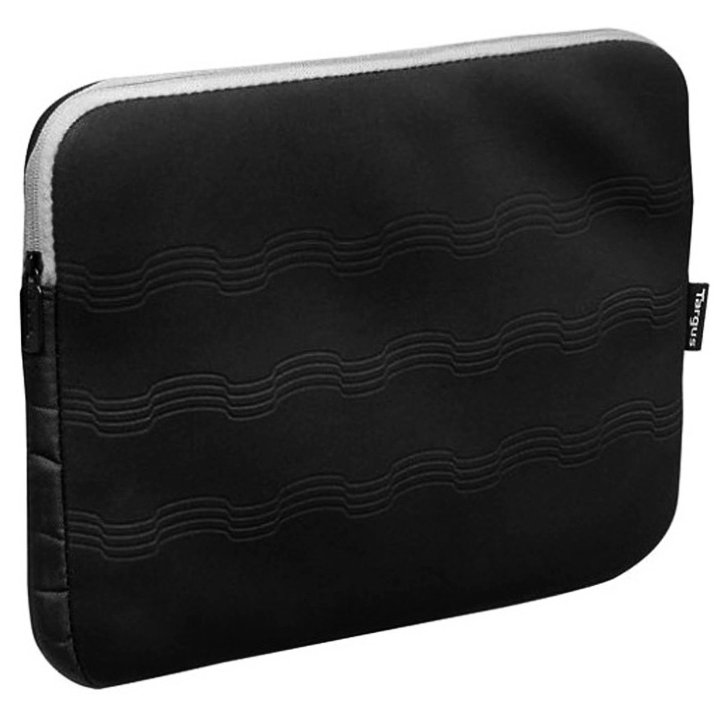 Targus Gray//Black-Fits most laptops with up to a 15.6 Debossed Laptop Sleeve