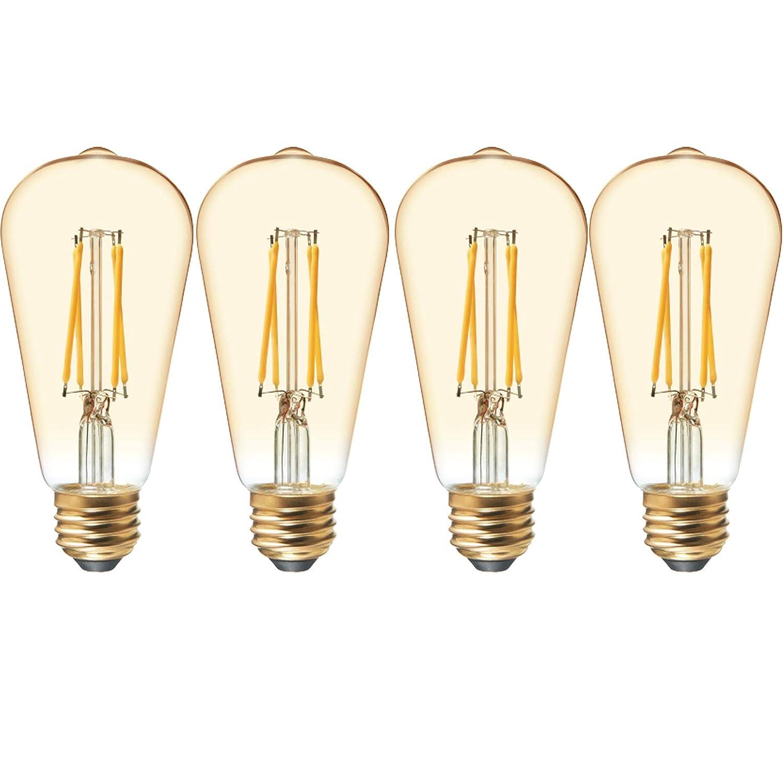 GE Lighting 31181 艶消し仕上げ電球 一般用途 クラシック形状 A21 デイライト LED 10 (75ワット交換) 1060ルーメン 並形口金 2個パック 4 Pack 42203 4 B07JKZMY7S Amber Glass 4 Pack