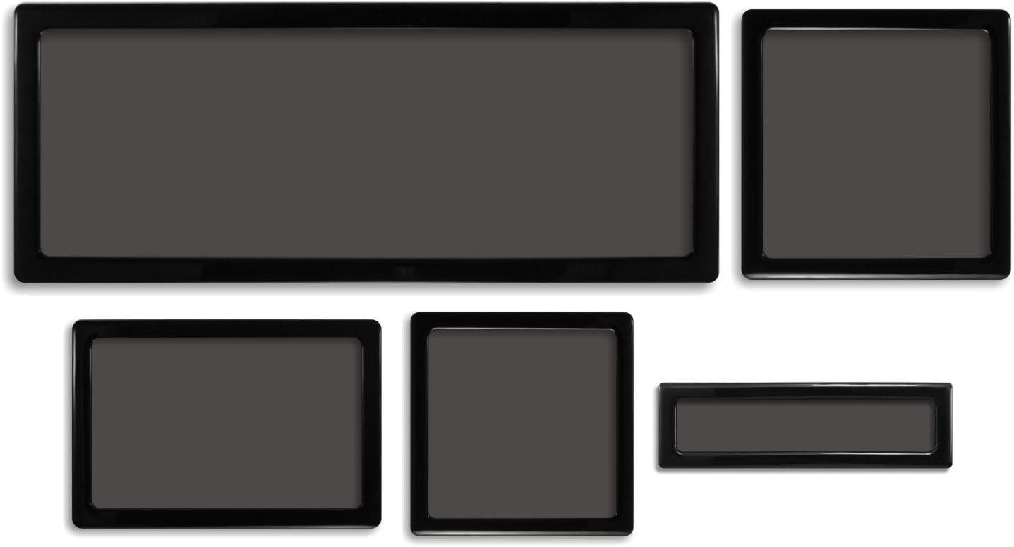 DEMCiflex Dust Filter Kit for NZXT S340, Black Frame/Black Mesh