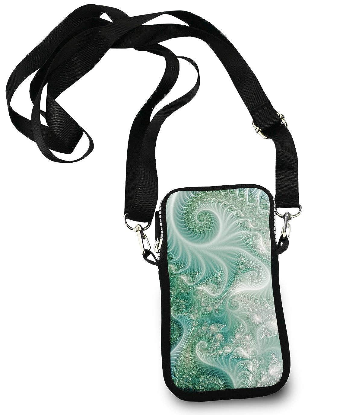 Cell Phone Purse Mini Crossbody Bag Smartphone Wallet Headphone Bag Green Octopus underwater