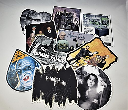 Addams Family Vinyl Stickers Decals Set of 10