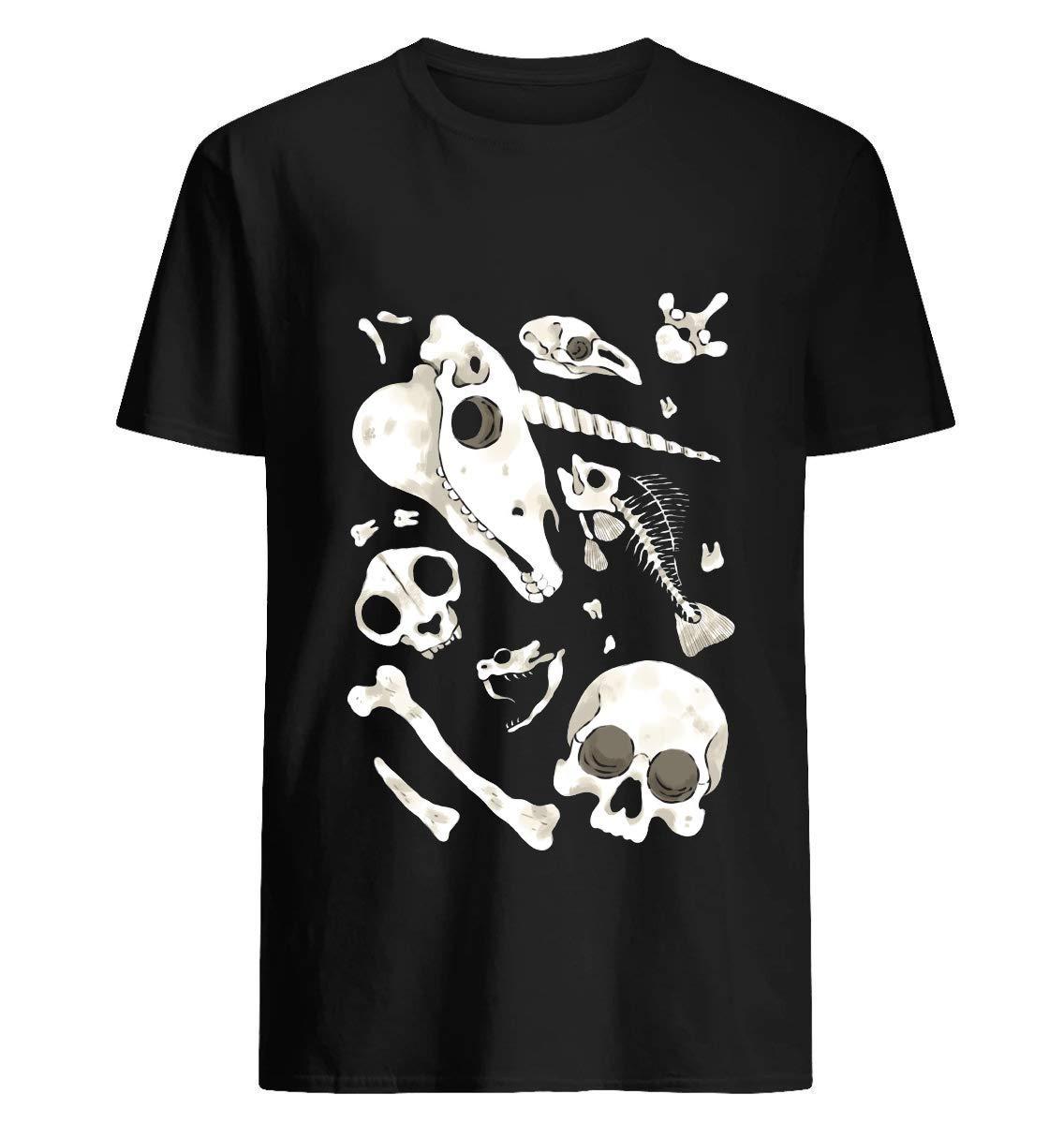 Black Skulls And Bones Wunderkammer 65 T Shirt For Unisex