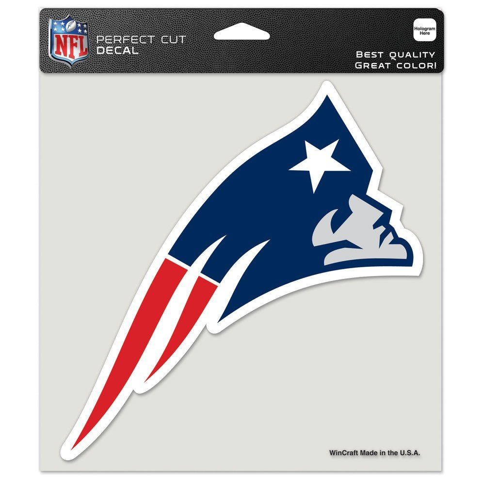 New England Patriots Perfect Cut Color Decal 8'' x 8'' New Wall Decal NFL