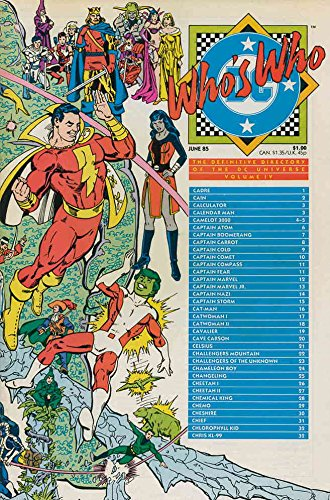 Who's Who: The Clarifying Directory of the DC Universe #4 FN ; DC comic book