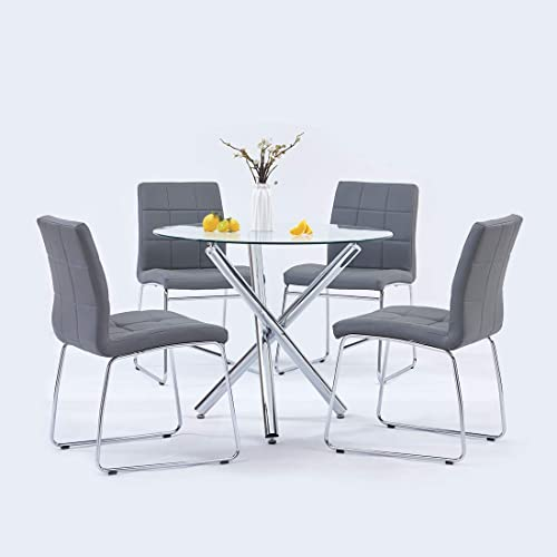 Modern Dining Table Chairs Set,Round Table