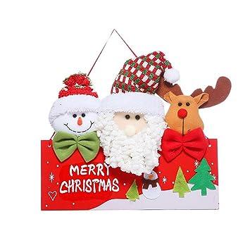 Hanging Christmas Decorations To Make.Amazon Com Christmas Door Wall Hanging Decorations Santa