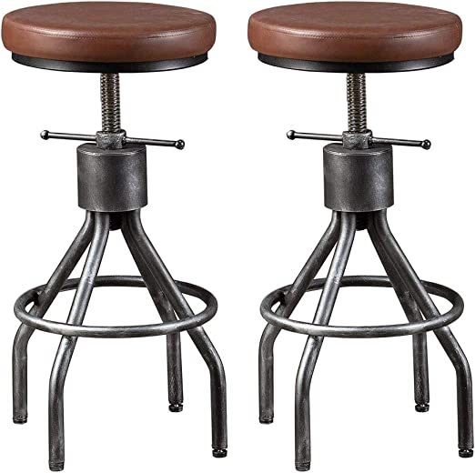 Vintage Industrial Stool Tall Chair MID CENTURY Home Decor High Seat Bar Stools Old Fashioned Swivel Chair Factory Loft Phone Operator Seat