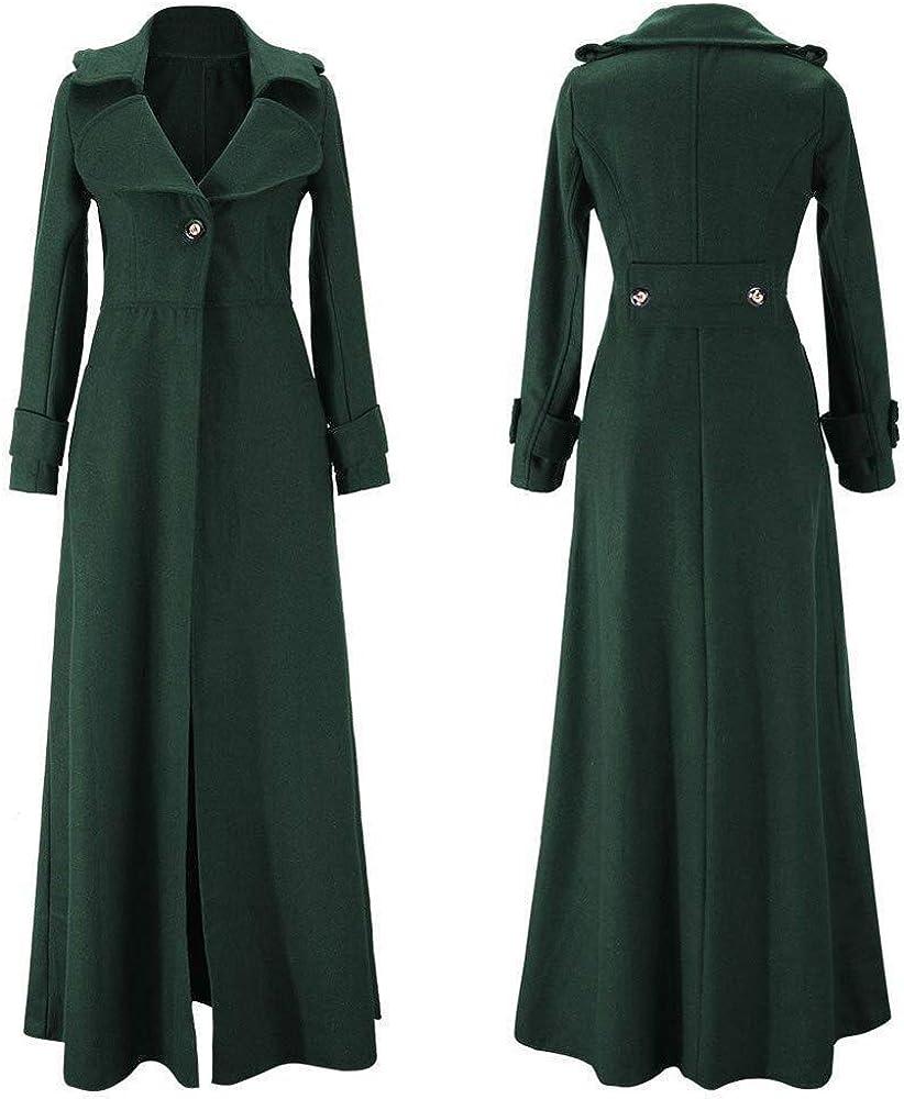 Pumsun Womens Winter Lapel Slim Coat Trench Jacket Long Parka Overcoat Outwear