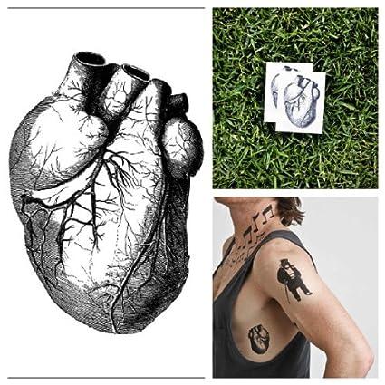 Amazon.com: Tattify Corazón – Tatuajes temporales (Conjunto ...