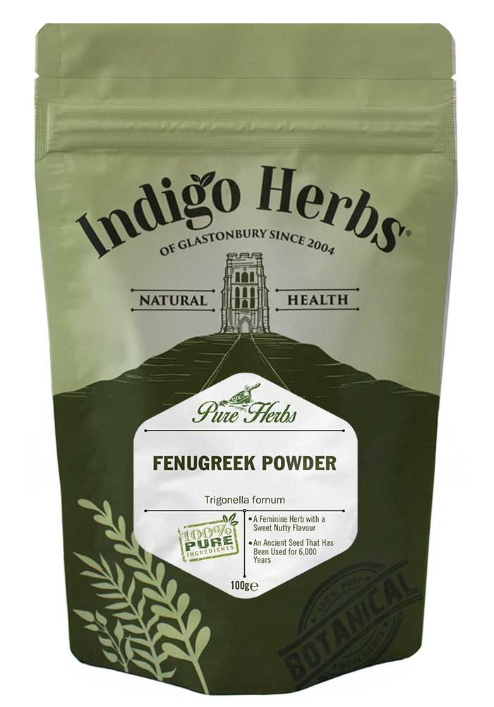Indigo Herbs Polvo de la semilla de la alholva (Fenogreco) 100g: Amazon.es: Alimentación y bebidas