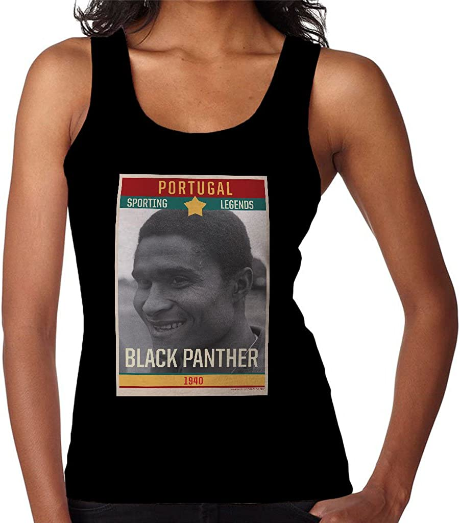 Sporting Legends Poster Portugal Eusebio Black Panther 1966 World Cup Womens Vest