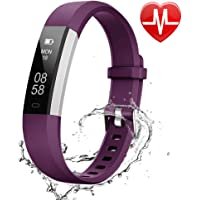 Lintelek Fitness Armband Fitness Tracker mit Herzfrequenz Sport Uhr Benachrichtigung Anrufe Smartwatch Schrittzähler Aktivitätstracker MEHRWEG