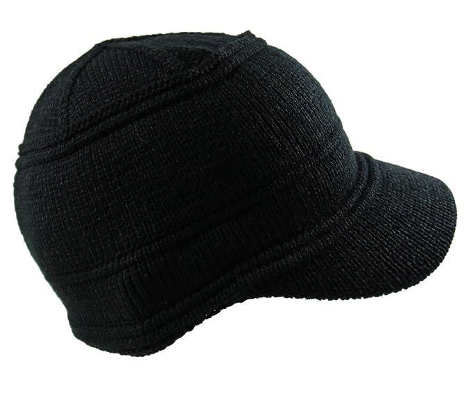 70155dfcbf1 RW Men s Knit Jeep Beanie Visor One Size Black at Amazon Men s ...