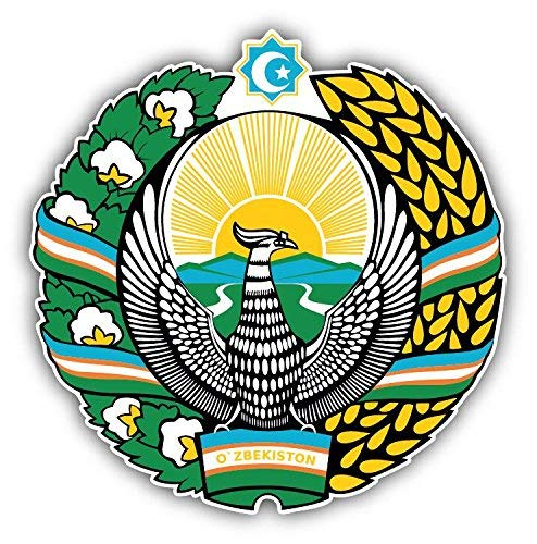 - Mildred Rob Uzbekistan Coat of Arms Home Decal Vinyl Sticker 5 X 5 inches