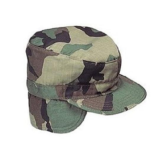6f5e956d8b6 Amazon.com  5612 Woodland Camo G.I. Combat Cap W Flaps (Medium ...