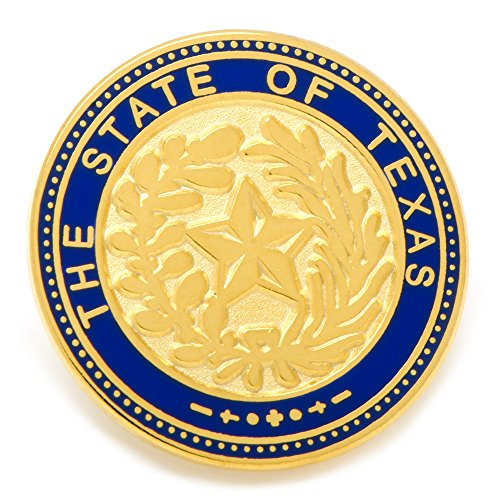 - CUFFLINKS INC State of Texas Seal Lapel Pin (Gold-Tone)