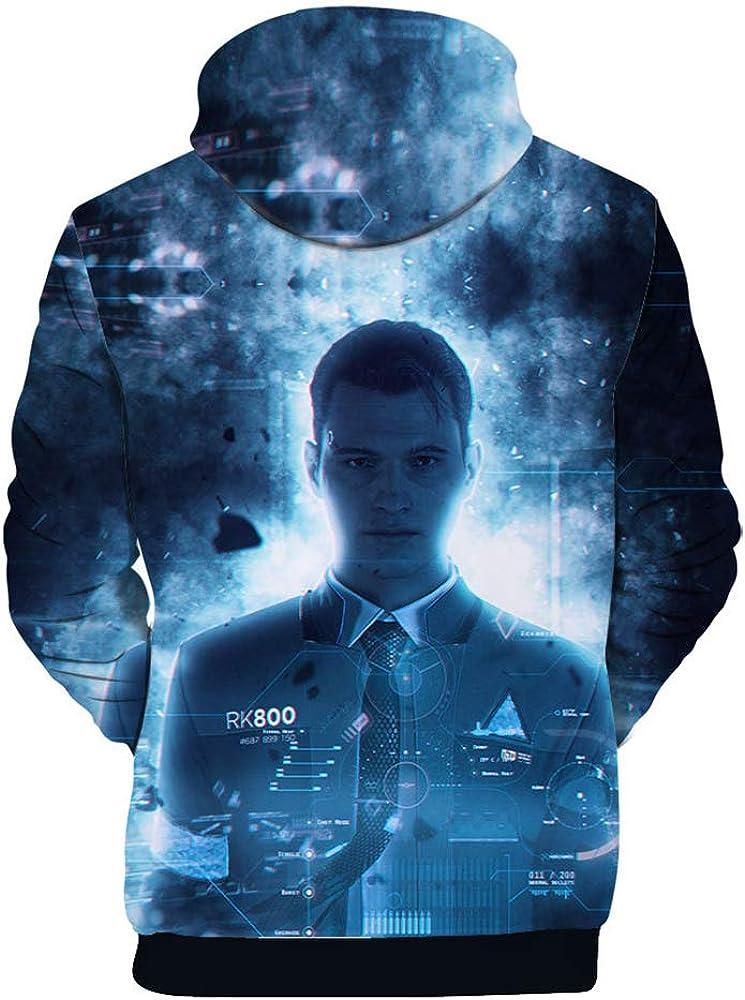 Detroit Become Human Confortable Sweat-Shirt /à Capuche Coat D/écontract/ée Fashion Hooded Manteau Loisir Hooded Pullover D/écontract/ée Chic avec Polaire Sweats /à Capuche