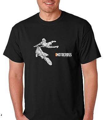 7c446b57 Amazon.com: Motocross Dirt Bike - Sport Extreme Mountain Bikes - 100%  Cotton Soft Style Men Graphic Premium T-Shirt: Clothing