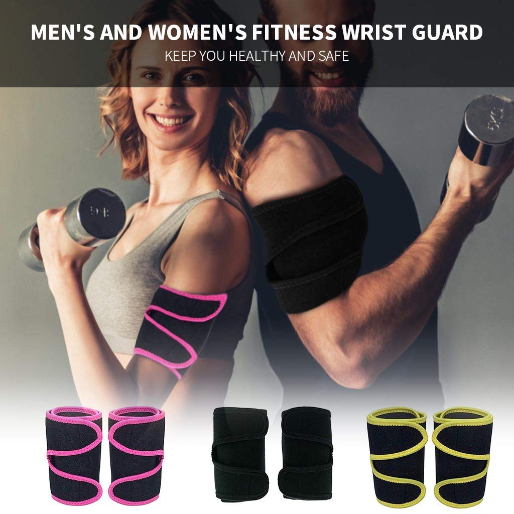 Jinjin Arm Trimmers Sauna Sweat Band Mens and Womens Fitness Running Sweat Armband Weight Loss Compression Body Wraps Sport Workout Exercise Increase Sweating Circulation