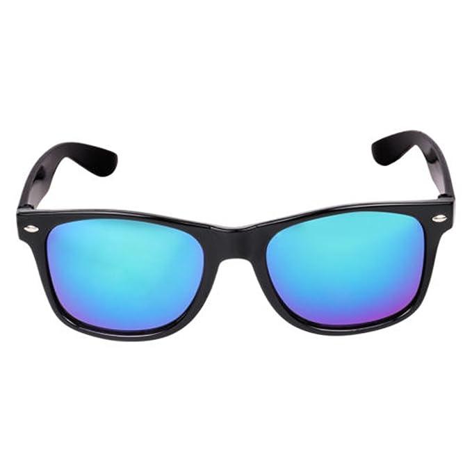 3f96f84723 Sheomy Sunglasses Combo - Blue Mercury Wayfarer Sunglasses And Aviator  Black Sunglasses With 2 Boxes  Amazon.in  Clothing   Accessories