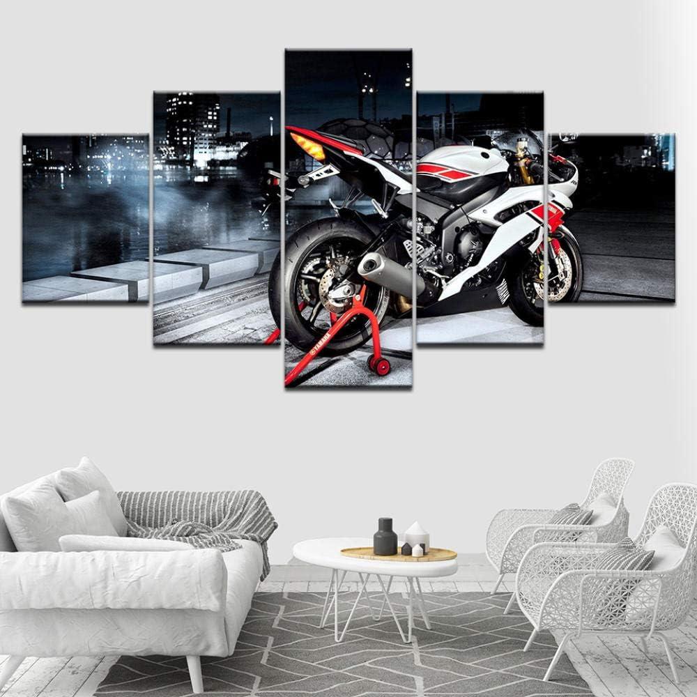 Chihie Motos Sportives Affiche De Course Peinture sur Toile 5P HD Imprimer Photos De Voiture De Sport pour Le Salon Mur Art D/écor /À La Maison 20x30cm-2p 20x40cm-2p 20x50cm-1p Pas de Cadre