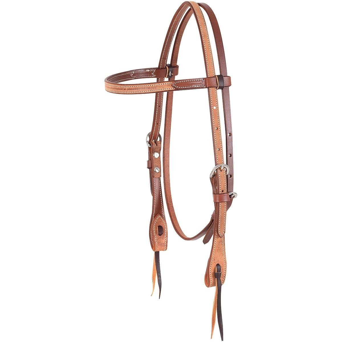 Martin Saddlery Roughout Browband Headstall Natural   B01JNB2C2A