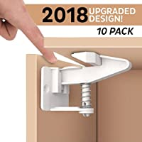 Welltop Baby Safety Cabinet Locks(10 Pack),Child Proof Safety Lock,Easy Install in Drawers, Cabinets, Closets for Kid Safety