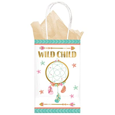 "Wild Child"" Printed Paper Gift Bags - 8 pcs: Toys & Games,"""