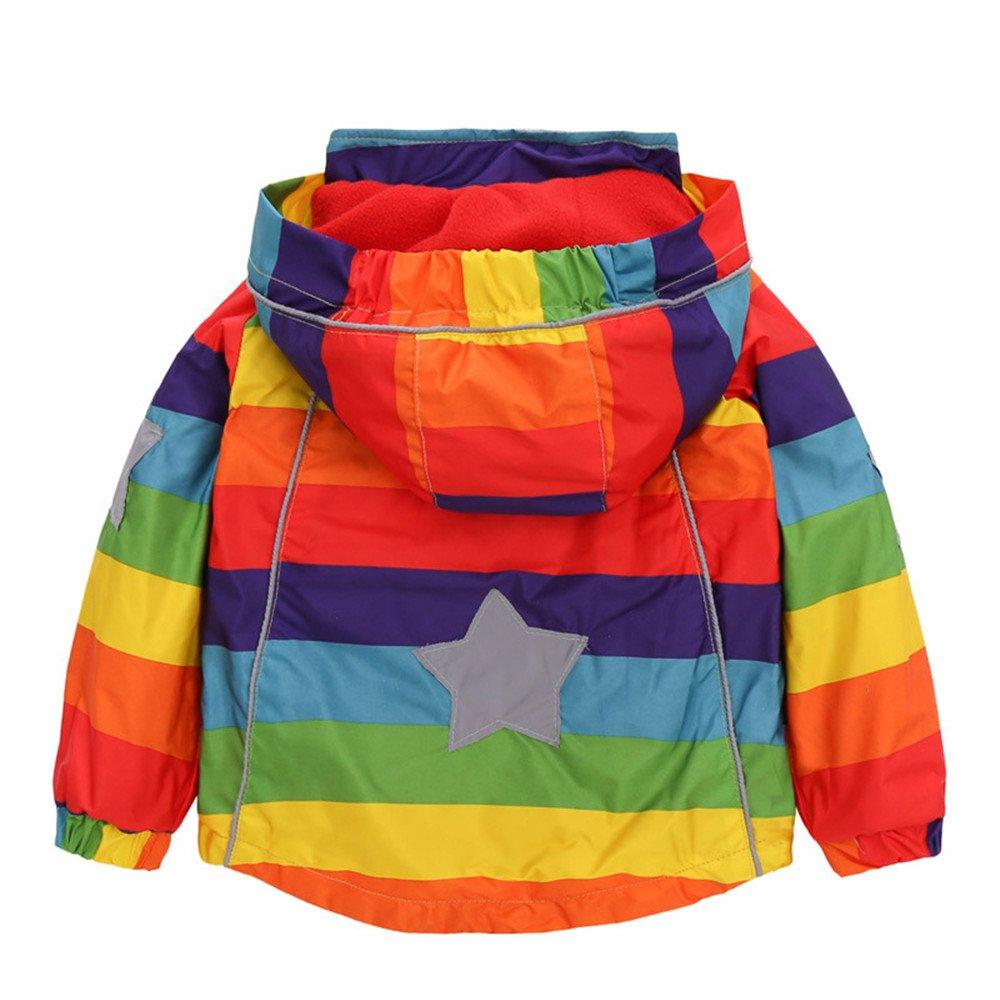 LJYH Outdoor Kids Girls Thermal Fleece Jacket Windproof Coat Hooded Sweater