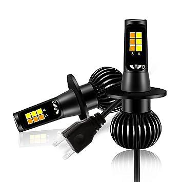 40 W LED de luz antiniebla, Mesllin 5200 lúmenes Bombillas de lámpara de niebla de