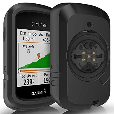 TUSITA Case for Garmin Edge 830 - Anti Drop Silicone Protective Cover - Cycling GPS Computer Accessories (Black): Sports & Outdoors