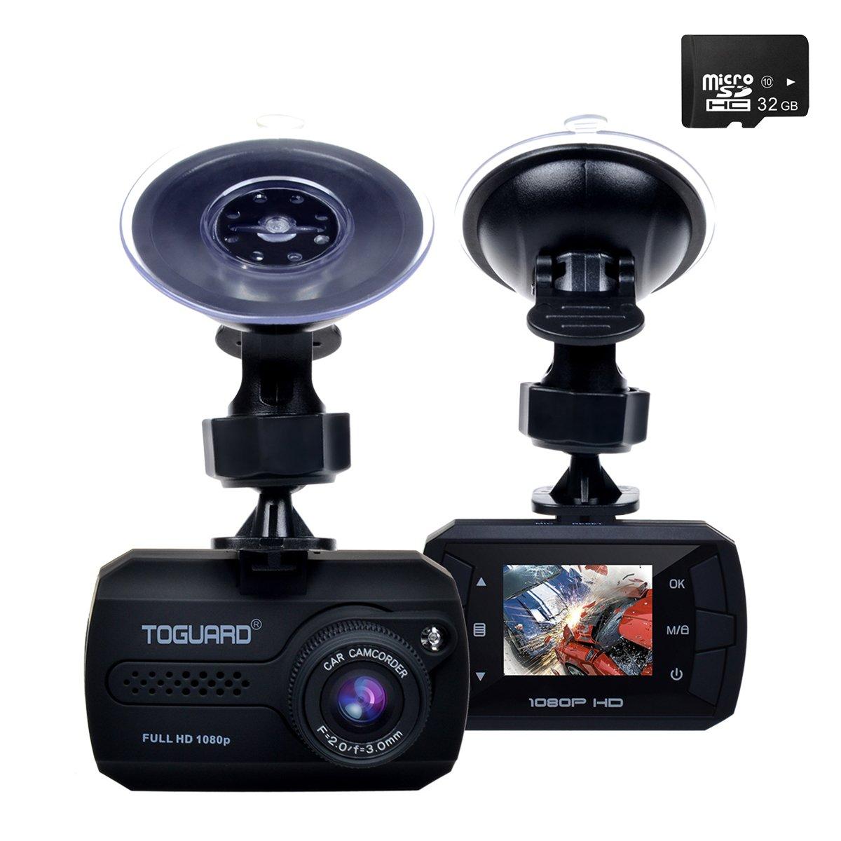 TOGUARD Mini 1080P Auto Kamera Dashcam DVR Recorder Eingebauter G-Sensor Bewegungserkennung Loop Recorder Nachtsicht (SD Karte ist Nicht Enthalten) CE680