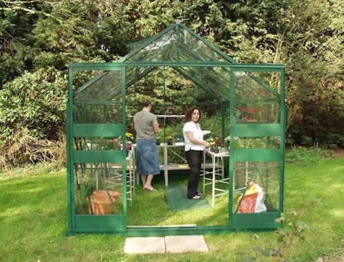 Eden Halls invernaderos Ltd Eden 812 - Highline verde grande para invernaderos: - de cristal 3 mm de vidrio templado: Amazon.es: Jardín