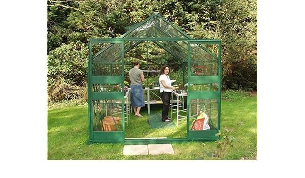 Eden Halls invernaderos Ltd Eden Highline 814 – verde invernadero Xl: vidrio – 3 mm largo Panel cristal: Amazon.es: Jardín