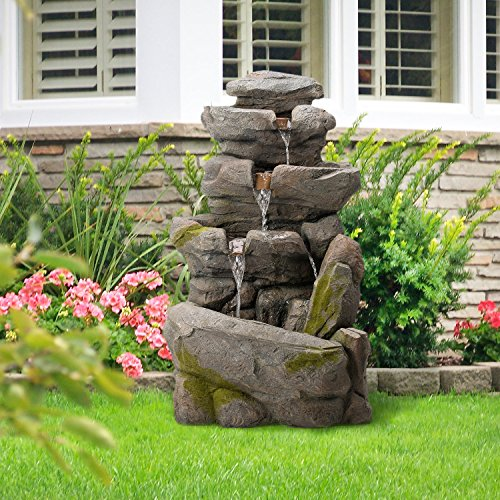 Outdoor Lighted Garden Fountains - 3