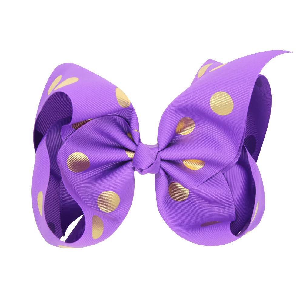 Girl Bow Baby Hairpins Dot Gilding Girl Hair Clip Accessories Gift