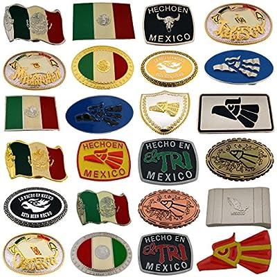 Letter Love Fashion 24 Mexico Belt Buckles Wholesale Lot Collectible Mexicans Heritage Men Vaquero