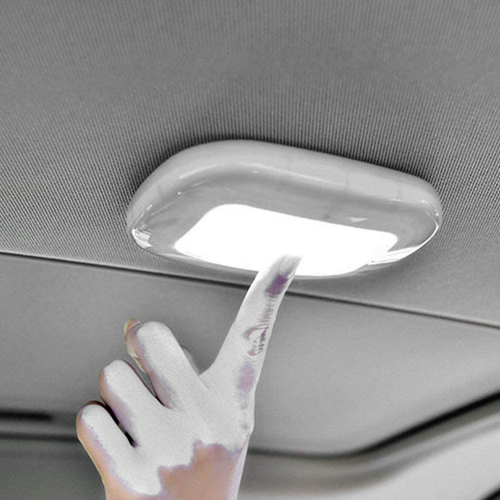 luci Targa Plafoniera a LED Beige luci notturne SYN Wireless White Light con USB Universale Magnetica Ricaricabile per Auto