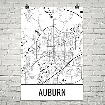 Amazon.com: Auburn Poster, Auburn Art Print, Auburn Wall Art, Auburn ...